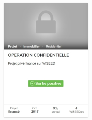 Opération Confidentielle 2 WiSEED