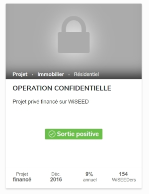 Opération Confidentielle WiSEED